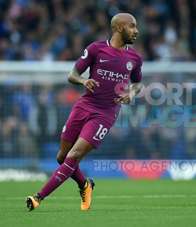 Fabian Delph of Manchester City during the premier league match at the Stamford Bridge stadium, London. Picture date 30th September 2017. Picture credit should read: Robin Parker/Sportimage