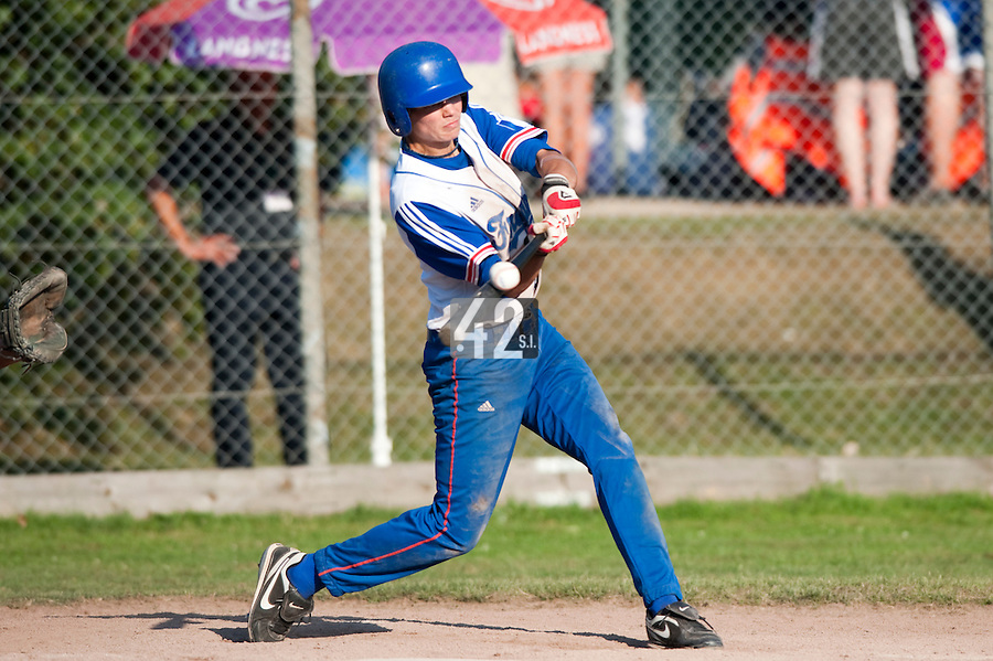 Baseball - 2009 European Championship Juniors (under 18 years old) - Bonn (Germany) - 06/08/2009 - Day 4 - Maxime Charlot (France)