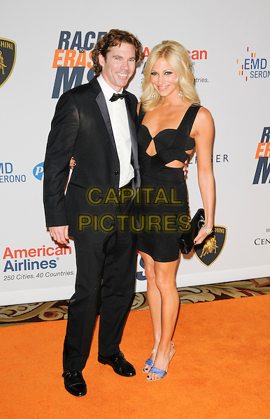 RUTLEDGE TAYLOR & DEBORAH GIBSON.Arriving at The 17th Annual Race to Erase MS at the Hyatt Regency Century Plaza Hotel in Century City, California, USA, May 7th, 2010..full length bow tie black dress cut out tuxedo tux  .CAP/ROT.©Lee Roth/Capital Pictures