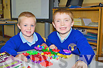 Aaron O'Connor-Murphy and Tommy Reen having fun in Raheen NS, Headford, Killarney on Monday....