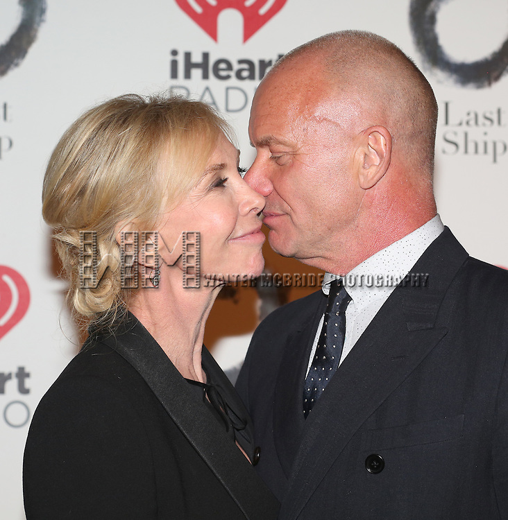 Trudie Styler and Sting attends the Broadway Opening Night After Party for 'The Last Ship' at Pier 60 on October 26, 2014 in New York City.