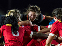 Amy Cokayne eyes the opposition at a scrum, England Women v Canada in an Autumn International match at The Stoop, Twickenham, London, England, on 21st November 2017 Final score 49-12