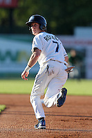 West Michigan Whitecaps outfielder Michael Rockett (7) during a game vs. the South Bend Silver Hawks at Fifth Third Field in Comstock Park, Michigan August 16, 2010.   West Michigan defeated South Bend 3-2.  Photo By Mike Janes/Four Seam Images