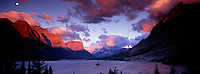 Sunrise over Wild Goose Island in Glacier National Park