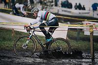 CX World Champion Mathieu Van Der Poel (NED/Correndon-Circus)<br /> <br /> Superprestige cyclocross Hoogstraten 2019 (BEL)<br /> Elite Men's Race<br /> <br /> &copy;kramon