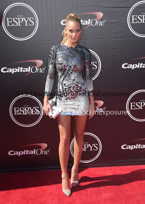 Hannah Davis attends The 2015 ESPY Awards held at The Microsoft Theatre  in Los Angeles, California on July 15,2015                                                                               © 2015 Hollywood Press Agency