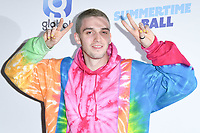 LONDON, UK. June 08, 2019: Lauv poses on the media line before performing at the Summertime Ball 2019 at Wembley Arena, London<br /> Picture: Steve Vas/Featureflash