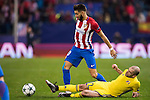 Yannick Ferreira Carrasco of Atletico de Madrid fights for the ball with Timofei Kalachev of FC Rostov during their 2016-17 UEFA Champions League match between Atletico Madrid and FC Rostov at the Vicente Calderon Stadium on 01 November 2016 in Madrid, Spain. Photo by Diego Gonzalez Souto / Power Sport Images
