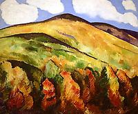 """""""Mountains No. 22"""" by Marsden Hartley."""