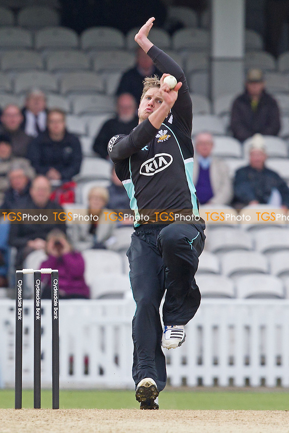 Stuart Meaker, Surrey CCC in action - Surrey Lions vs Durham Dynamos - Clydesdale Bank CB40 Cricket at The Kia Oval, London - 20/05/12 - MANDATORY CREDIT: Ray Lawrence/TGSPHOTO - Self billing applies where appropriate - 0845 094 6026 - contact@tgsphoto.co.uk - NO UNPAID USE.