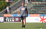15 June 2016: New England assistant coach Tom Soehn. The Carolina RailHawks hosted the New England Revolution at WakeMed Stadium in Cary, North Carolina in a 2016 Lamar Hunt U.S. Open Cup fourth round game.
