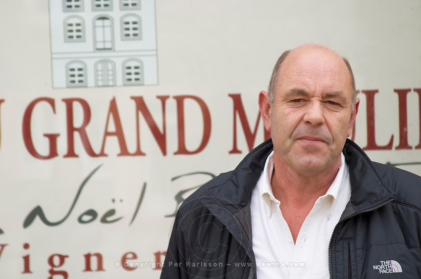 Jean-Noël Bousquet Chateau Grand Moulin. In Lezignan-Corbieres. Les Corbieres. Languedoc. Owner winemaker. France. Europe.