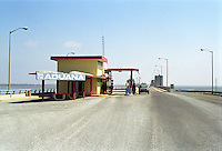 Lake Amistad Dam Border Crossing between Del Rio Texas USA and Acuna Coahuila Mexico