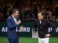 Rotterdam, The Netherlands, 16 Februari, 2018, ABNAMRO World Tennis Tournament, Ahoy, Tennis, Roger Federer (SUI)<br />