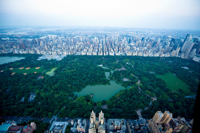 Aerial view of Central Park in Manhattan, New York City.