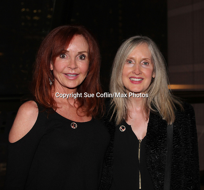 """General Hospital Jacklyn Zeman """"Bobbie Spencer"""" poses with her sister Carol. Jackie  is honorary chair of The 29th Annual Jane Elissa Extravaganza which benefits The Jane Elissa Charitable Fund for Leukemia & Lymphoma Cancer, Broadway Cares and other charities on November 14, 2016 at the New York Marriott Hotel, New York City presented by Bridgehampton National Bank and Walgreens.  (Photo by Sue Coflin/Max Photos)"""