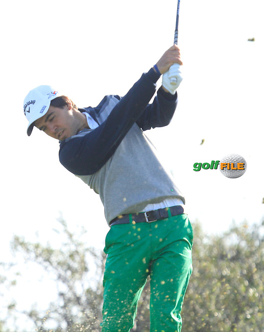 Javier Ballesteros (ESP) on the 17th tee during Round 1 of the 2015 KLM Open at the Kennemer Golf &amp; Country Club in The Netherlands on 10/09/15.<br /> Picture: Thos Caffrey | Golffile
