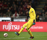 Calcio, Serie A: AC Milan - Inter Milan, Giuseppe Meazza (San Siro) stadium, Milan on 17 March 2019.  <br /> Milan's goalkeeper Gianluigi Donnarumma in action during the Italian Serie A football match between Milan and Inter Milan at Giuseppe Meazza stadium, on 17 March 2019. <br /> UPDATE IMAGES PRESS/Isabella Bonotto