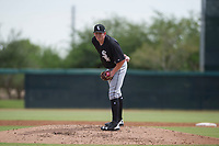 Chicago White Sox pitcher Cameron Seitzer (32) looks to his catcher for the sign during an Instructional League game against the San Diego Padres on September 26, 2017 at Camelback Ranch in Glendale, Arizona. (Zachary Lucy/Four Seam Images)