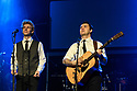 The Simon & Garfunkel Story opens at the Lyric, Shaftesbury Avenue. Starring Charles Blyth (as Art Garfunkel) and Sam O'Hanlon (as Paul SImon). This 50th Anniversary Celebration also features a full live band and brass orchestra performing all the hits including 'Mrs Robinson', 'Cecilia', 'Bridge Over Troubled Water', 'Homeward Bound' and many more. Written, directed and designed by Dean Elliott. Picture shows: Charles Blyth (as Art Garfunkel) and Sam O'Hanlon (as Paul SImon).