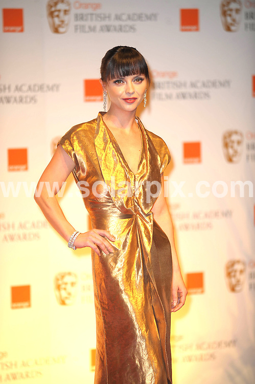 **ALL ROUND PICTURES FROM SOLARPIX.COM**                                             **WORLDWIDE SYNDICATION RIGHTS**                                                                                  Caption: Orange British Academy Film Awards at The .Royal Opera House in Covent Garden London                                                                              This pic: Christina Ricci                                                                                       JOB REF:14467        MSR       DATE: 12.02.2012                                                           **MUST CREDIT SOLARPIX.COM OR DOUBLE FEE WILL BE CHARGED**                                                                      **MUST AGREE FEE BEFORE ONLINE USAGE**                               **CALL US ON: +34 952 811 768 or LOW RATE FROM UK 0844 617 7637**