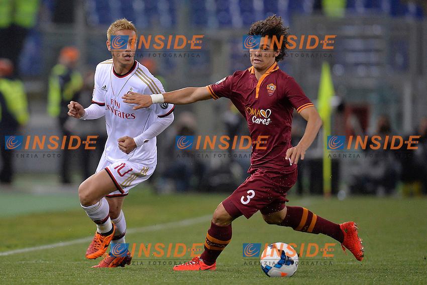 Keisuke Honda Milan, Dodo Roma <br /> Roma 25-04-2014 Stadio Olimpico - Football Calcio 2013/2014 Serie A, AS Roma - Milan, Foto Andrea Staccioli / Insidefoto