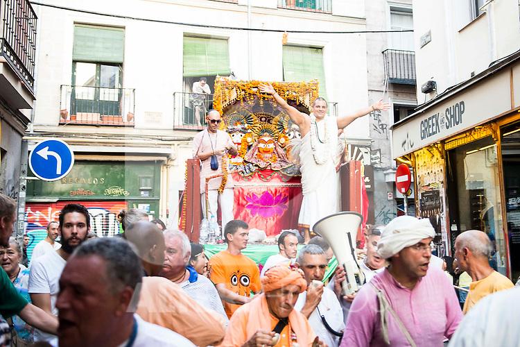 The Ratha Yatra Festival 2016 in Madrid. September 03, Spain. 2016. (ALTERPHOTOS/BorjaB.Hojas)