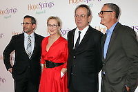 Steve Carell, Meryl Streep, Tommy Lee Jones and director David Frankel attend the world premiere of &quot;Hope Springs&quot; at SVA Theater in New York, 06.08.2012. Credit: Rolf Mueller/face to face..Credit: Rolf Mueller/face to face face to face / mediapunchinc /NortePhoto.com<br />
