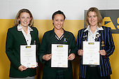 Girls Golf finalists Courtney Manning, Larissa Eruera & Alana Wylie. ASB College Sport Young Sportperson of the Year Awards 2007 held at Eden Park on November 15th, 2007.