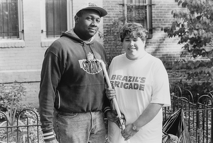 Andre and Susan Robinson 8th and 1st NE, on Oct. 5, 1995. (Photo by Duncan Spencer/CQ Roll Call via Getty Images)