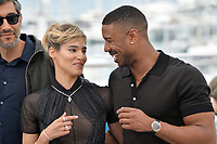 Ramin Bahrani, Sofia Boutella &amp; Michael B. Jordan at the photocall for &quot;Farenheit 451&quot; at the 71st Festival de Cannes, Cannes, France 12 May 2018<br /> Picture: Paul Smith/Featureflash/SilverHub 0208 004 5359 sales@silverhubmedia.com