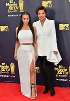 Kim Kardashian West &amp; Kris Jenner at the 2018 MTV Movie &amp; TV Awards at the Barker Hanger, Santa Monica, USA 16 June 2018<br /> Picture: Paul Smith/Featureflash/SilverHub 0208 004 5359 sales@silverhubmedia.com