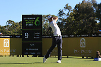 Chase Koepka (USA) in action on the 9th during Round 1 of the ISPS Handa World Super 6 Perth at Lake Karrinyup Country Club on the Thursday 8th February 2018.<br /> Picture:  Thos Caffrey / www.golffile.ie<br /> <br /> All photo usage must carry mandatory copyright credit (&copy; Golffile | Thos Caffrey)