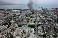 Port Au Prince, Haiti, Jan 19, 2010.Downtown Port au Prince is one of the most affected areas, with most landmarks suffering extensive damage. Large scale looting and violent confrontation with the police are continuous..