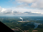 May 13, 2009. Sanford, NC..Flying with Charles Boss, a retired chemistry professor from NC State, around Chatham, Durham and Lee counties from the Sanford- Lee County Regional Airport.. Sharon Harris Nuclear Power Plant.