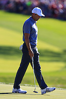 Sergio Garcia (ESP)(Team Europe) on the 16th green during Sunday Singles matches at the Ryder Cup, Hazeltine National Golf Club, Chaska, Minnesota, USA.  02/10/2016<br /> Picture: Golffile   Fran Caffrey<br /> <br /> <br /> All photo usage must carry mandatory copyright credit (&copy; Golffile   Fran Caffrey)