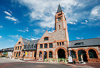 The newly renovated Union Pacific Railway Station in downtown Cheyenne, Wyoming, Thursday, June 2, 2011. Directly opposite the railroad station on Capital Ave is the State Capital building of Wyoming...Photo by Matt Nager