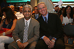 10 AUG 2010: U.S. Soccer Federation president Sunil Gulati (left) with USSF CEO Dan Flynn (right). The 2010 National Soccer Hall of Fame Induction Ceremony was held at New Meadowlands Stadium in East Rutherford, New Jersey.