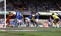 Blackburn Rovers' Danny Graham scores his sides first goal<br /> <br /> Photographer Rachel Holborn/CameraSport<br /> <br /> The EFL Sky Bet Championship - Ipswich Town v Blackburn Rovers - Saturday 4th August 2018 - Portman Road - Ipswich<br /> <br /> World Copyright &copy; 2018 CameraSport. All rights reserved. 43 Linden Ave. Countesthorpe. Leicester. England. LE8 5PG - Tel: +44 (0) 116 277 4147 - admin@camerasport.com - www.camerasport.com
