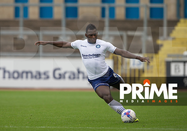 Aaron Pierre of Wycombe Wanderers during the Sky Bet League 2 match between Carlisle United and Wycombe Wanderers at Brunton Park, Carlisle, England on 24 September 2016. Photo by Andy Rowland.