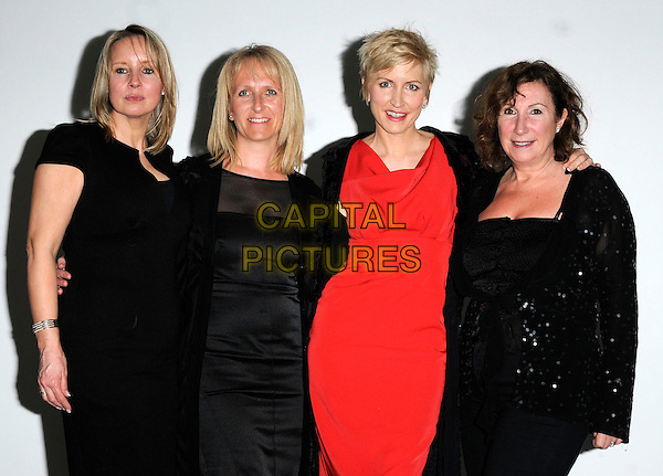 """HEATHER MILLS & GUESTS.""""The Cold Kiss"""" screening, BBC White City, London, England..April 7th, 2010.half length black jacket dress red sequins sequined  .CAP/CAN.©Can Nguyen/Capital Pictures."""