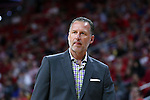 03 November 2016: NC State head coach Mark Gottfried. The North Carolina State University Wolfpack hosted the Lynn University Fighting Knights at PNC Arena in Raleigh, North Carolina in a 2016-17 NCAA Division I Men's Basketball exhibition game. NC State won the game 100-66.