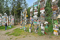 Sign Post Forest (Model released)<br /> Watson Lake<br /> Yukon<br /> Canada