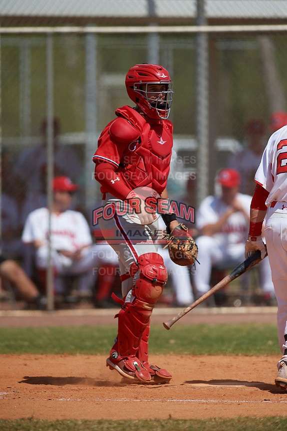 Philadelphia Phillies catcher Andrick Nava (10) during an exhibition game against the Canada Junior National Team on March 11, 2020 at Baseball City in St. Petersburg, Florida.  (Mike Janes/Four Seam Images)