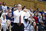 13 November 2016: Penn head coach Mike McLaughlin. The Duke University Blue Devils hosted the University of Pennsylvania Quakers at Cameron Indoor Stadium in Durham, North Carolina in a 2016-17 NCAA Division I Women's Basketball game. Duke defeated Penn 68-55.