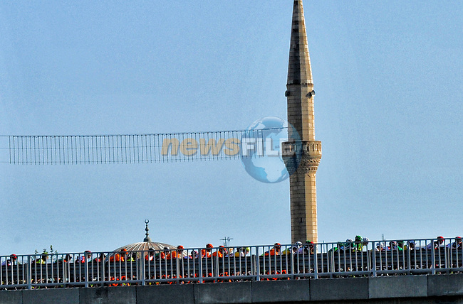 Action from Stage 1 of the Presidential Cycling Tour of Turkey 2017 running 176.7km from Alanya to Kemer, Turkey. 10/10/2017.<br /> Picture: Brian Hodes/VeloImages   Cyclefile<br /> <br /> <br /> All photos usage must carry mandatory copyright credit (&copy; Cyclefile   Brian Hodes/VeloImages)