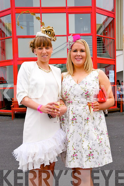 Listowel Races : Attending ladies day at Listowel Races on Sunday last were Aine Wall & Caitriona Sayers from Derrymore, Tralee wearing Carol Kennelly Hats.