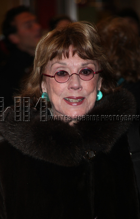 Phyllis Newman arriving for the Opening Night Performance of PRESENT LAUGHTER at the Roundabout Theatre Company's American Airlines Theatre in New York City.<br />January 22, 2010