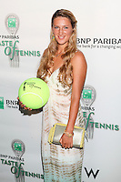 Tennis player Victoria Azarenka attends the 13th Annual 'BNP Paribas Taste of Tennis' at the W New York.  New York City, August 23, 2012. © Diego Corredor/MediaPunch Inc. /NortePhoto.com<br />