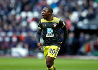 29th February 2020; London Stadium, London, England; English Premier League Football, West Ham United versus Southampton; Michael Obafemi of Southampton celebrates after scoring his sides 1st goal in the 31st minute to make it 1-1